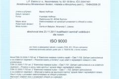 Certifikát LP elektro